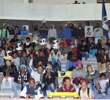 Cape Town, South Africa - JULY 29: GV of the fans during the Varsity Football match between University of Western Cape and the Tshwane University of Technology at the UWC Stadium