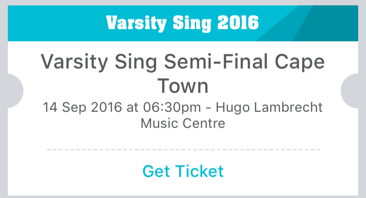 Tickets to the Varsity Sing semi-finals are on sale! •