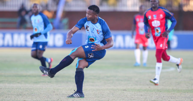 Rodgers Ngoma of CUT during the Varsity Football match between CUT and TUT at CUT Soccer Stadium, Thursday 17 August 2017, Bloemfontein, 2017