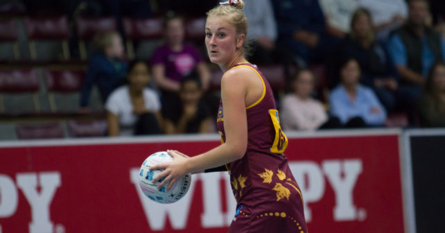 Charmaine Baard of Maties against UJ, Varsity Netball 2017, Coetzenberg Indoor Stadium, 4 Sept 17-35