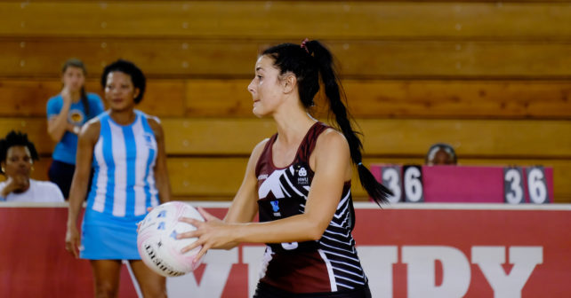 Action photo,Rome Dreyer, NWU, 2017 Varsity Netball, MATIES vs NWU, Monday 11 September 2017, pretoria, University of Pretoria Sport Campus