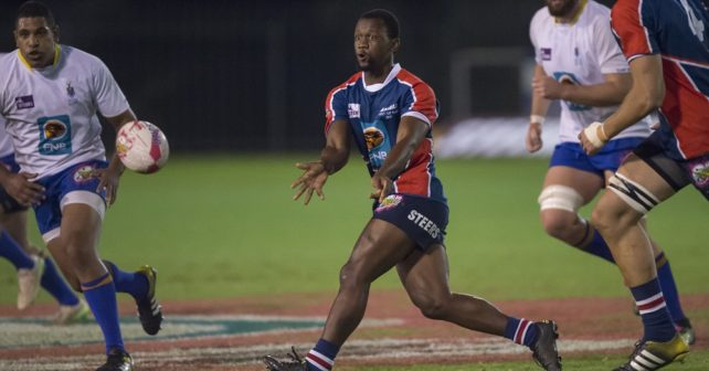Lindelwe Zungu of NMMU  in action during the 2017 Varsity Cup, presented by Steinhoff, FNB and STEERS. Monday 13 March 2017 FNB WITS vs FNB MADIBAZ. Wits Sport ground, Johannesburg, Gauteng  Photo by: Christiaan Kotze/SASPA