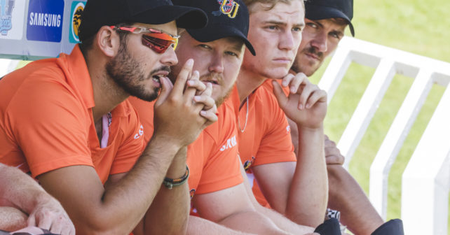 Players take part in Varsity Cricket Cup in Potchefstroom, South Africa on February 4, 2017