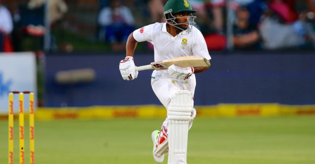 PORT ELIZABETH, SOUTH AFRICA - DECEMBER 26: Temba Bavuma of South Africa during day 1 of the Day/Night Sunfoil Test between South Africa and Zimbabwe at St Georges Park on December 26, 2017 in Port Elizabeth, South Africa. (Photo by Richard Huggard/Gallo Images)
