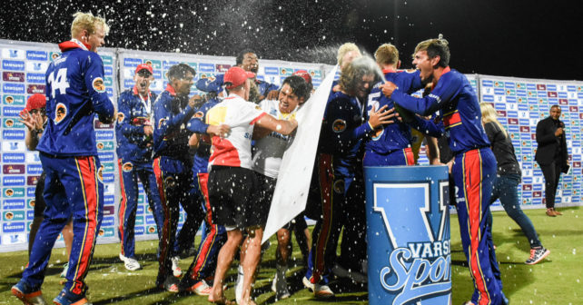 Tuks winners of Varsity Cricket 2018 in Potchefstroom at Senwes Park against NWU