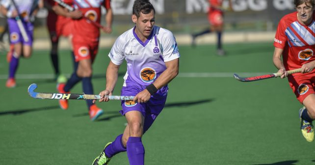 Varsity Hockey 2018. Friday 04 May 2018.  Naude Stean of NWU during Game 2 NWU v Kovsies varsity hockey match at Wits Hockey field Johannesburg Photo by: Christiaan Kotze/SASPA