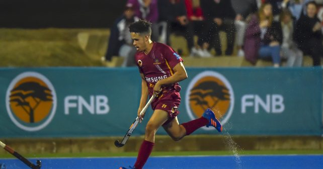 Varsity Hockey 2018. Sunday 13 May 2018.  Dayne Samboer of Maties during Game 27 Maties v UJ varsity hockey match at Tuks Hockey field Pretoria Photo by: Christiaan Kotze/SASPA
