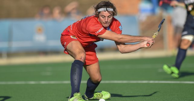 Varsity Hockey 2018. Sunday 06 May 2018.  Ryan Scheepers of Kovsies during Game 10 Madibaz v Kovsies varsity hockey match at Wits Hockey field Johannesburg Photo by: Christiaan Kotze/SASPA