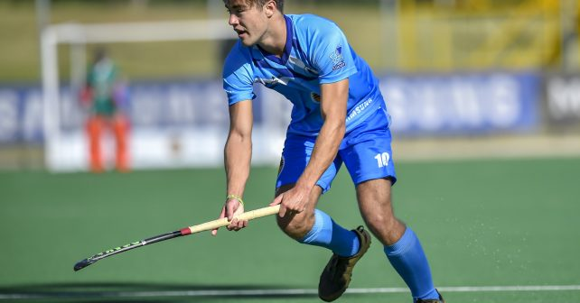 Varsity Hockey 2018. Sunday 07 May 2018.  Jack Forrest of UCT during Game 14 Kovsies v UCT varsity hockey match at Wits Hockey field Johannesburg Photo by: Christiaan Kotze/SASPA