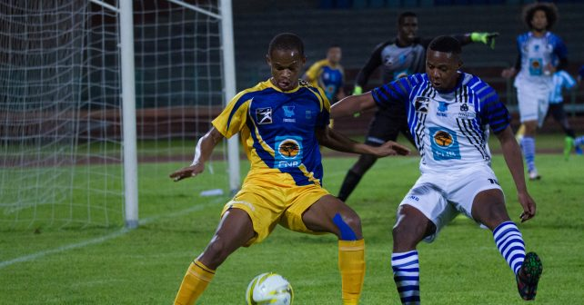 UWC &NWU player during the Varsity Football match between UWC & NWU at UWC Sports Stadium in Belville on August 17, 2017-11