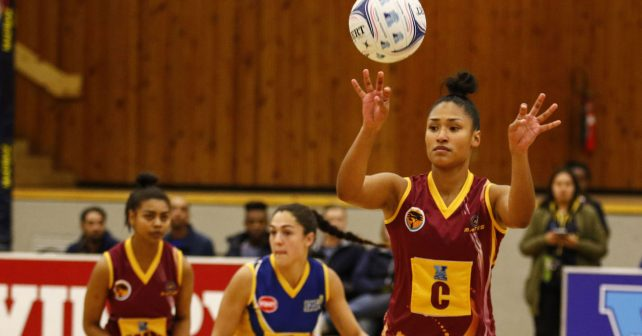 Sasha-lee Petersen of Maties during the game between Madibaz and UWC at the Maties indoor sports stadium, Port Elizabeth     Photo by: MICHAEL SHEEHAN/Varsity Sports