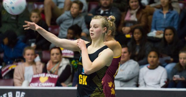 Jeannie Steyn of NMU against Maties, Varsity Netball 2017, Coetzenberg Indoor Stadium, 25 Sept 17-28