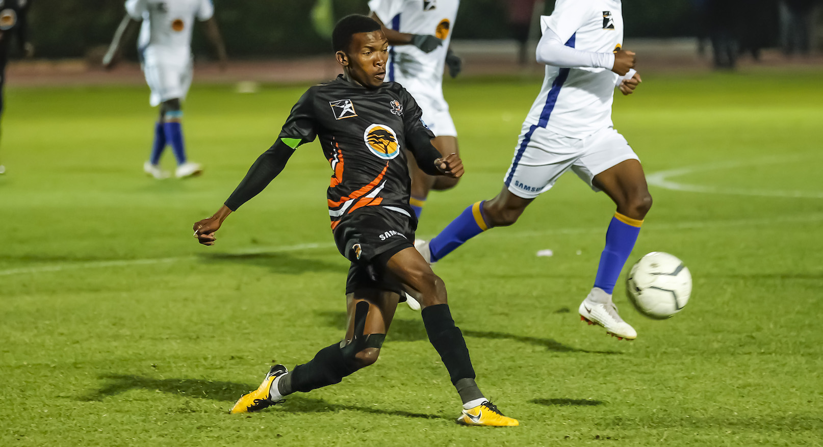 Mokete Mogaila of UJ during the FNB Varsity Cup Soccer match between UJ and Wits at UJ Soweto Campus in Johannesburg on the 9th August 2018. Photo by Dominic Barnardt / VarsitySports