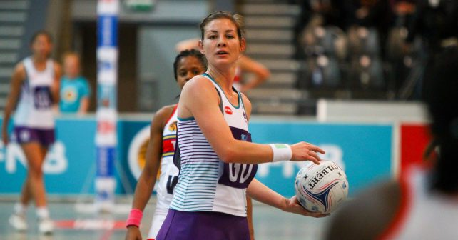 Monique Reyneke of Pukke (4) during the match between Pukke and Tuks during the Varsity Sport Netball tournament at the Callie Human Hall UFS, Monday 27 August 2018, Bloemfontein