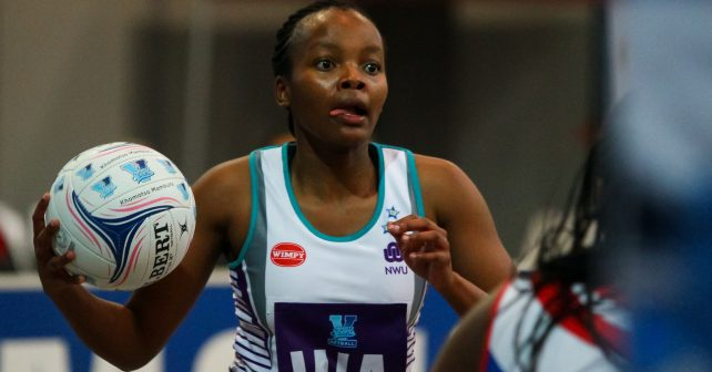 Olerato Molapo of NWU during the match between Pukke and VUT during the Varsity Sport Netball tournament at the Callie Human Hall UFS, Monday 3 September 2018, Bloemfontein