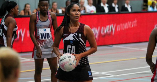 Jessica du Plessis of pukke during the semi final of the Varsity Sport Netball tournament at the Callie Human Hall UFS, Monday 2 October 2017 Bloemfontein