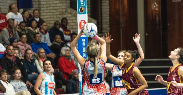 Alicia Puren (Capt) of Kovsies during the Varsity Netball match between Maties and Kovsies at Coetzenburg Sports Centre in Stellenbosch on 10th September, 2018