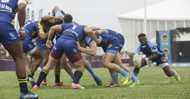 CUT during Varsity 7's Rugby match between CUT and UWC at Kings Park Stadium in Durban on December 2, 2017