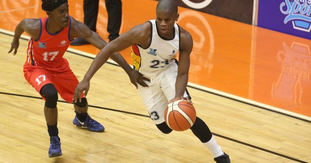 Ng during the Varsity Sports Basketball match 03 between UKZN vs TUT on October 05, 2018 at Wits Multi-Purpose Hall in Johannesburg, South Africa. #Varsitybasketball  (Photo by Reg Caldecott/SASPA)