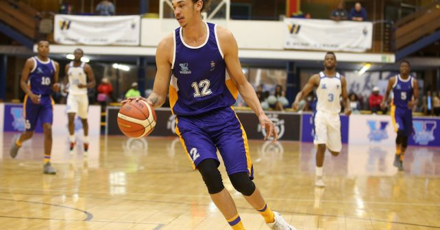 Miguel Ferrao of Wits on the attack during the Varsity Sports Basketball match 04 between UCT vs WITS on October 05, 2018 at Wits Multi-Purpose Hall in Johannesburg, South Africa. #Varsitybasketball  (Photo by Reg Caldecott/SASPA)