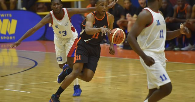 Nqosa Lehloenya (11) from University of JHB  during the Varsity Sports Basketball match 20 between VUT and UJ on October 12, 2018 at Wits Multi-Purpose Hall in Johannesburg, South Africa. #Varsitybasketball  (Photo by Christiaan Kotze/SASPA)