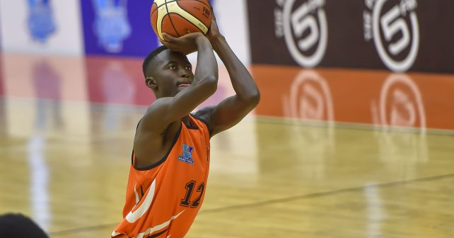 Zett Mutongoza (12) from University of JHB during the Varsity Sports Basketball Match 26 UJ vs UP-TUKS on October 13, 2018 at Wits Multi-Purpose Hall in Johannesburg, South Africa. #Varsitybasketball  (Photo by Christiaan Kotze/SASPA)