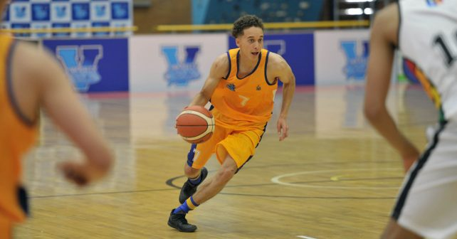 Briarley Klassen (7) from University of Witwatersrand  during the Varsity Sports Basketball match 07 between UKZN vs WITS on October 06, 2018 at Wits Multi-Purpose Hall in Johannesburg, South Africa. #Varsitybasketball  (Photo by Craig Nieuwenhuizen/SASPA)