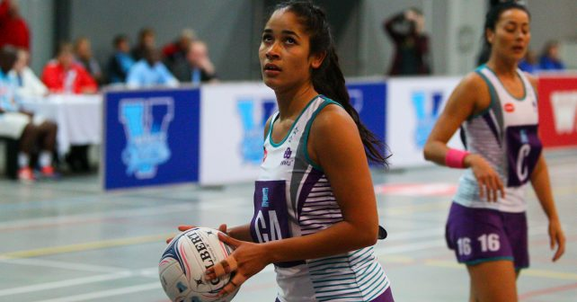 Jessica du Plessis (2) of NWU during the match between Pukke and VUT during the Varsity Sport Netball tournament at the Callie Human Hall UFS, Monday 3 September 2018, Bloemfontein