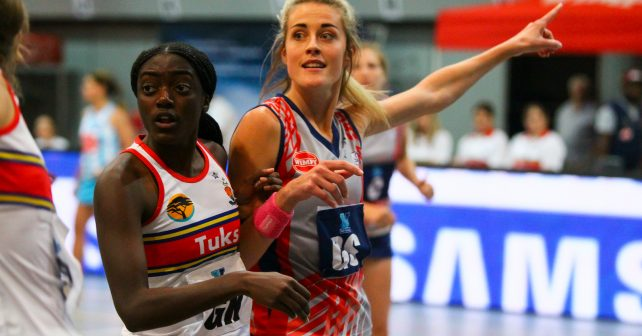 Alicia Puren of Kovsies during the final of the Varsity Netball between Kovsies and Tuks during the Varsity Sport Netball tournament at the Callie Human Hall UFS, Monday  8 October 2018, Bloemfontein