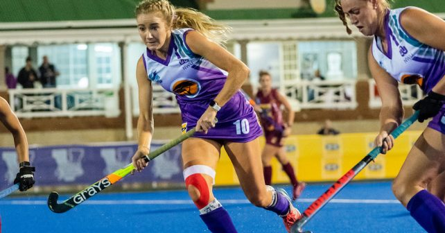 Meeghan Klomp of NWU during the Varsity Hockey match at NWU Astro in Potchefstroom on May 10, 2019