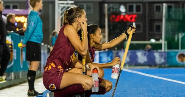 Maties during the Varsity Hockey match at NWU Astro in Potchefstroom on May 10, 2019
