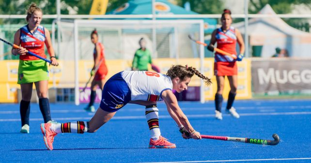 Maxine Hannan during the Varsity Hockey match at NWU Astro in Potchefstroom on May 11, 2019