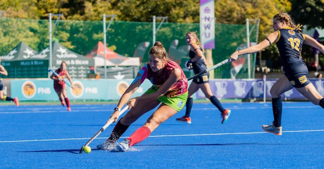 Stephanie Botha during the Varsity Hockey match at NWU Astro in Potchefstroom on May 12, 2019