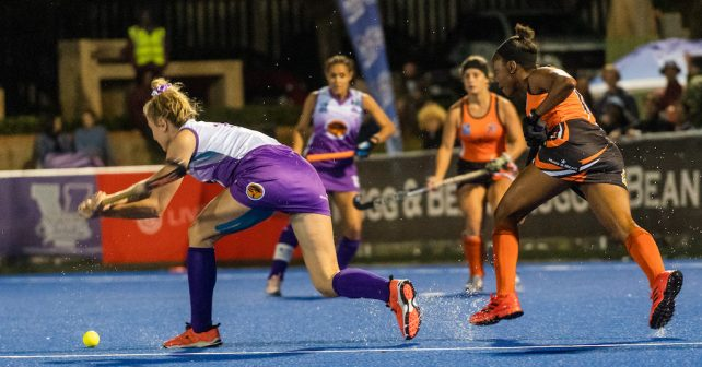 Courtney Du Preez during the Varsity Hockey match at NWU Astro in Potchefstroom on May 12, 2019