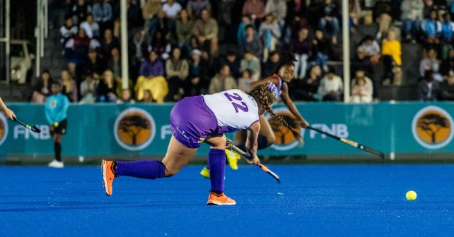 Jacolene McLaren during the Varsity Hockey match at NWU Astro in Potchefstroom on May 13, 2019