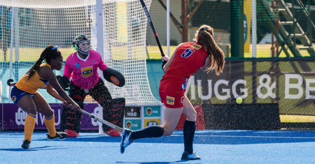 Casey Jean Botha of Kovsies during the Varsity Hockey match at NWU Astro in Potchefstroom on May 10, 2019